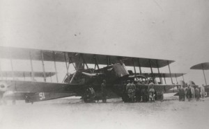 Historic photo of an aircraft taken in 1924