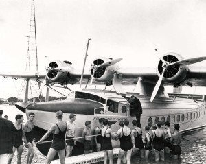 Historical photo of the Pan Am Clipper