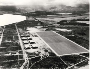 Aerial photo of Hickam Field taken in 1937