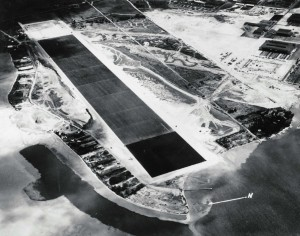 Aerial view of Kaneohe Naval Air Station taken in 1941