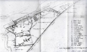 Blueprint drawing of Haleiwa Airport taken in 1946