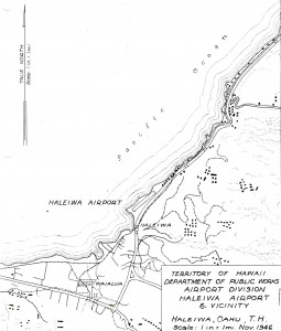 1946 drawing of Haleiwa Airport