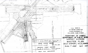Master Plan of Hilo Airport drafted in 1947