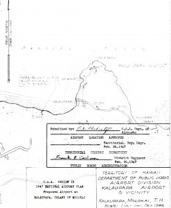 1947 National Airport Plan for Kalaupapa Airport