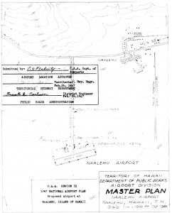 Master Plan of Naalehu Airport drafted in 1947