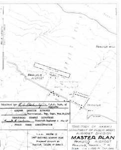 Master Plan of Paauilo Airport drafted in 1947