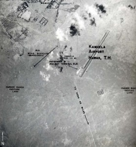 Aerial view with markings of Kamuela Airport taken in 1953