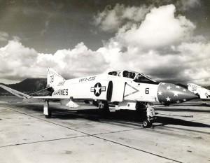 1960s photo of a UMFA 235 F-4 Death Angels aircraft