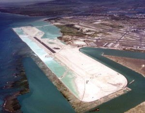 HNL's Reef Runway almost completed on 1976