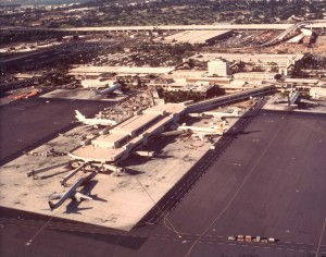 Aerial view of HNL from 1980