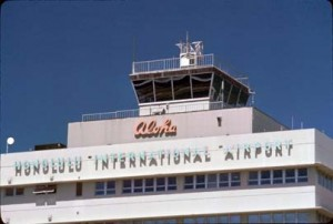 Honolulu Internation Airport Tower taken in 1987