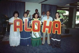 Welcoming crew to greet arriving passengers into Honolulu