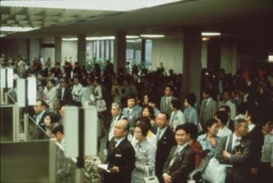 Wait lines at the Immigration stage of the Honolulu International Airport