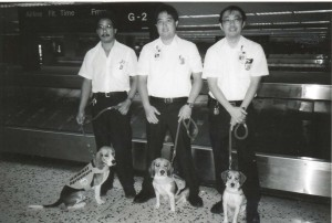 Photo of Honolulu International Airport Beagle Dog Corps in the 1990s