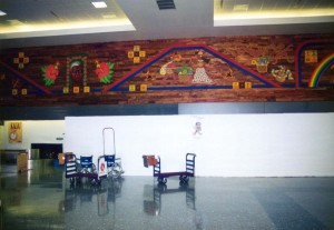 Photo of the wall decor inside Honolulu International Airport