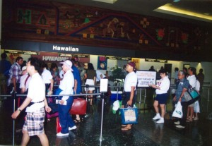 Inside the Interisland Terminal Ticket Lobby of Honolulu International taken in 1995