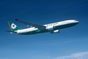 Photo of an Eva Air aircraft taking flight