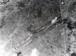 Historic photo of an aerial view of Kamuela Airport (Bordelon Field)