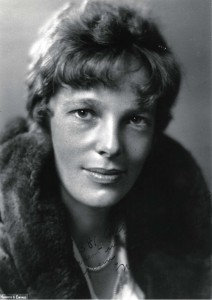 Amelia Earhart self-portrait