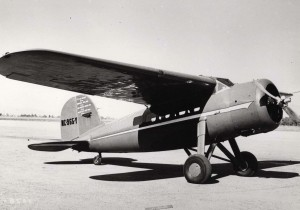 Photo of Earhart's single engine plain
