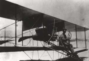 Historical photo of a simple design aircraft