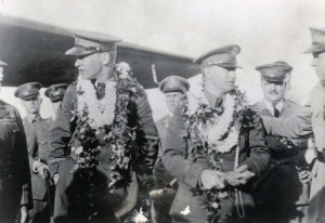 Lt Hegenberger and Lt Maitland being honored after landing