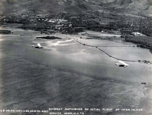 Sikorsky Amphinions on Initial Flight of Inter Island Service in Honolulu