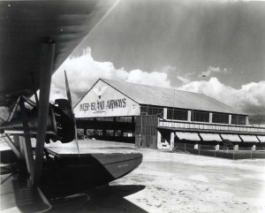 1930 Photo of Inter-Island Airways Plane Hangar