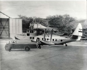 Interisland aircraft being fueled