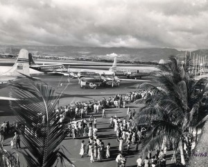 Historic photo of the HNL runway
