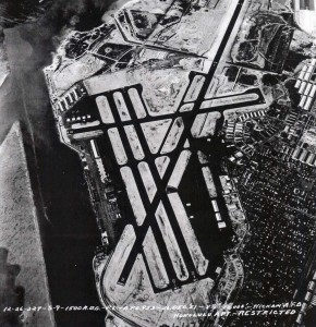 Aerial view of HNL from 1951