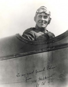 Lt. Col. Horace Hickam on an aircraft