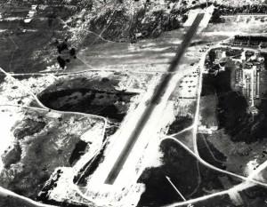 P-40, O-47 and P-26 aircraft are visible at Bellows Field, October 27, 1941.