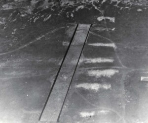 "Bellows Field. Original runway completed January 11, 1933, cost $3,550.07. Made of coral rock 10"" deep, rolled to hard smooth surface & oiled. 75 ft long by 983 ft long."