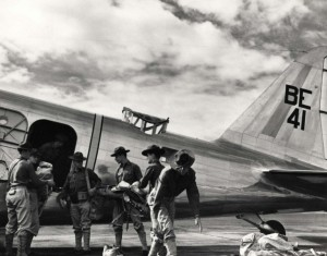 Loading aircraft at Hickam Field, c1938.