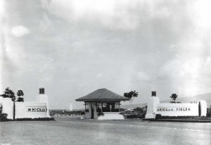 Entrance to Hickam Field, Hawaii, 1938.