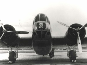 Nose of B-18 most likely of HQ flight, 5th Bomb Group, at Hickam Field, c1938-1939