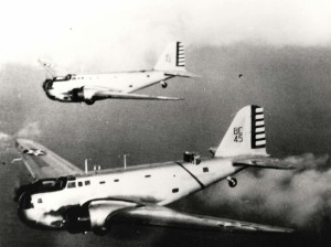 B-18 number BE-45 stationed at Hickam Field was the B Flight Leader's Plane.