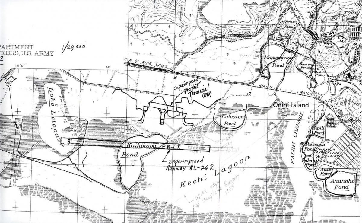 hawaii aviation  photos of john rodgers airport - map of john rodgers airport