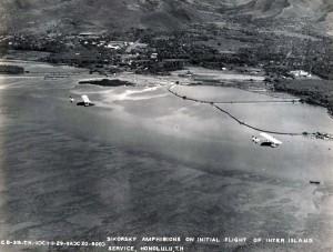 Inter-Island Airways' Sikorsky S-38 amphibian made its initial flight in interisland service on November 11, 1929.