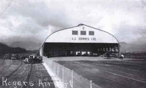 1Inter-Island Airways Ltd. hangar at John Rodgers Airport, 1930s.