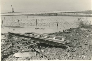 Security wire around John Rodgers Airport, July 22, 1943.