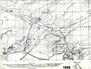 Map of Pearl Harbor and John Rodgers Airport area, 1927.