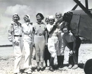 Pilot Andrews, Evelyn Hudson, assistant instructor; Winifred Hudson, Helen Smith, Virginia Thomas, Madeline Hayden, Emma Chung, Clora Curtis.