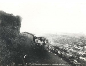 A scenic view of Waikiki from high up on Puowaina Drive, Punchbowl, Honolulu, provided for a leisure drive in the early 1900s.