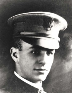 Second Lieutenant Franklin B. Bellows, for whom Bellows Field was named, 1918.
