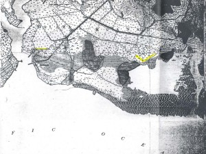 The area where John Rodgers Airport would be developed in 1927, as shown in a 1913 map.