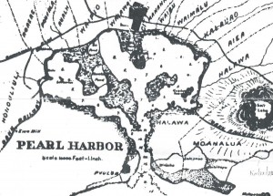Map of Pearl Harbor area, 1897.