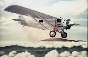 The first civilian airplane flight across the Pacific was made by Emory Bronte and Ernest Smith in a Travelair monoplane, July 15, 1927.