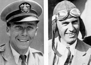 William W. Davis, navigator, and Arthur C. Goebel, pilot, took off in the Woolaroc on August 16, 1927. They finished first landing at Wheeler Field on August 17, 1927 in a time of 26 hours, 17 minutes and 33 seconds.